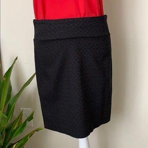 Margaret M. Black Stretch Skirt